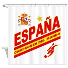 Spain World Cup Soccer Shower Curtain