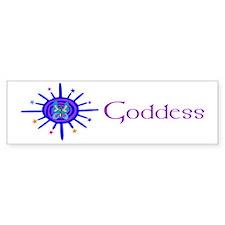 Goddess Sun And Stars Bumper Bumper Sticker