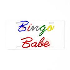 Bingo Babe Aluminum License Plate