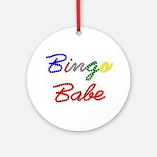 Bingo Babe Ornament (Round)