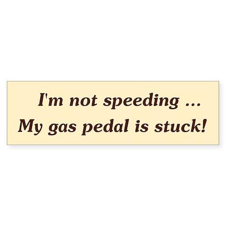 NotSpeeding Sticker (Bumper)