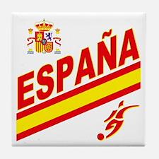 Spain World Cup Soccer Tile Coaster