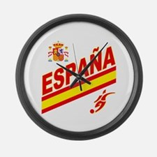 Spain World Cup Soccer Large Wall Clock