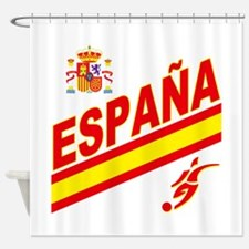 Spain World Cup Soccer Shower Curtain