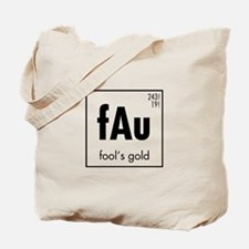 Fools Gold in Black Tote Bag