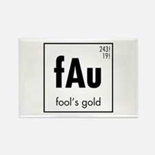 Fools Gold in Black Rectangle Magnet