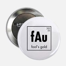 "Fools Gold in Black 2.25"" Button"