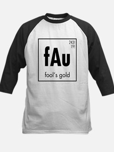 Fools Gold in Black Kids Baseball Jersey