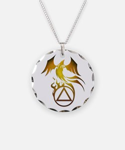 A.A. Logo Phoenix - Necklace Circle Charm