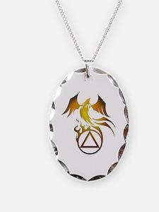 A.A. Logo Phoenix - Necklace Oval Charm