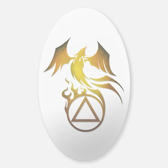 A.A. Logo Phoenix - Sticker (Oval)