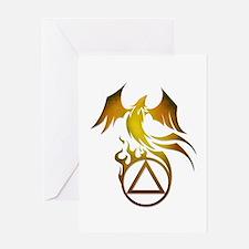 A.A. Logo Phoenix - Greeting Card