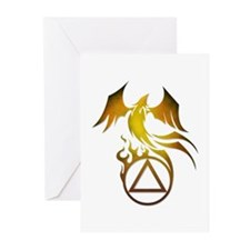 A.A. Logo Phoenix - Greeting Cards (Pk of 20)