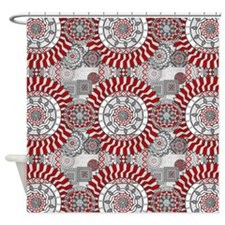 Concentric Collage Shower Curtain