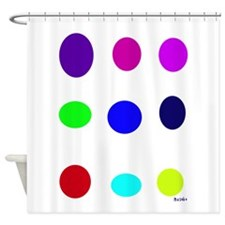 Colored Eggs Shower Curtain