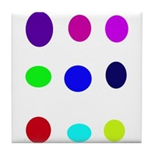 Colored Eggs Tile Coaster