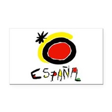 Spain World Cup Soccer Rectangle Car Magnet