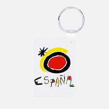 Spain World Cup Soccer Aluminum Photo Keychain