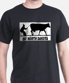 Ski North Dakota Black T-Shirt