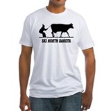 Ski north dakota Fitted Light T-Shirts