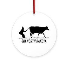 Ski North Dakota Ornament (Round)