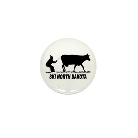 Ski North Dakota Mini Button (100 pack)