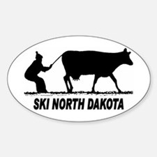 Ski North Dakota Oval Decal