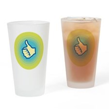 Retro Thumbs Up Drinking Glass