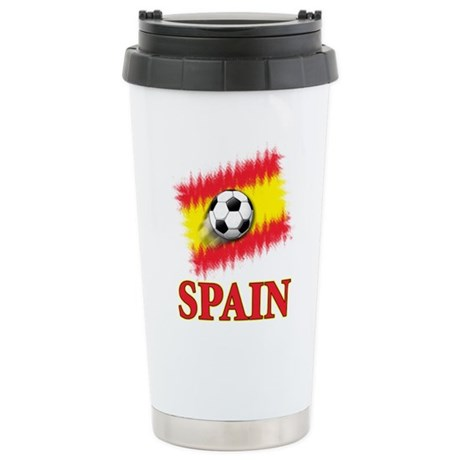 Spain World Cup Soccer Stainless Steel Travel Mug