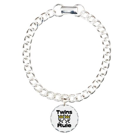 Twins Rule.PNG Charm Bracelet, One Charm