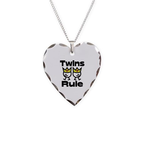 Twins Rule.PNG Necklace Heart Charm