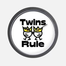 Twins Rule.PNG Wall Clock