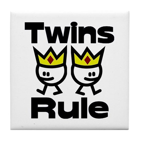 Twins Rule.PNG Tile Coaster