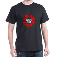 Poker Stud, Chip Black T-Shirt