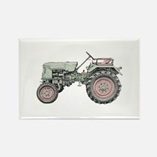 Antique Tractor in color Rectangle Magnet