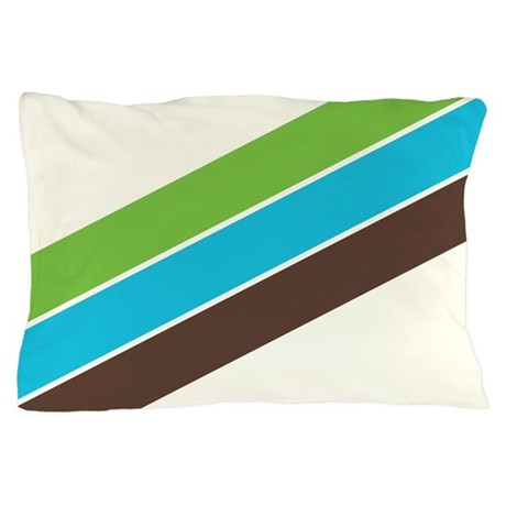 Retro 1970s Supergraphics Style Pillow Case