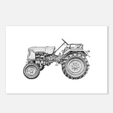 Antique Tractor in b&w Postcards (Package of 8)