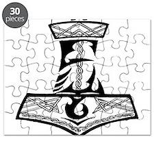 Black Celtic Thors Hammer Puzzle