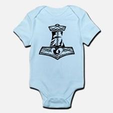Black Celtic Thors Hammer Infant Bodysuit