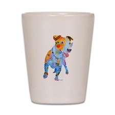Jack Russell Terrier Many Colors Shot Glass