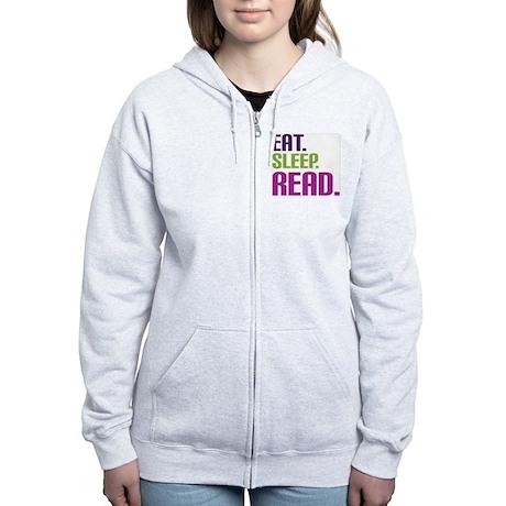 eatsleepread Women's Zip Hoodie