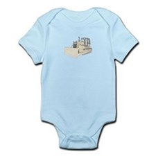 Bulldozer in color Infant Bodysuit