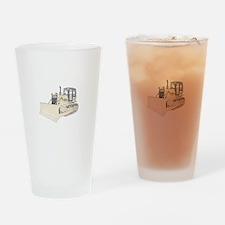 Bulldozer in color Drinking Glass