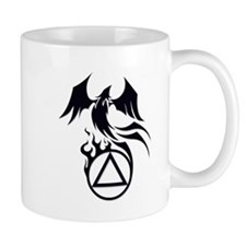 A.A. Logo Phoenix B&W - Small Mug