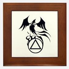 A.A. Logo Phoenix B&W - Framed Tile