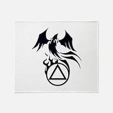A.A. Logo Phoenix B&W - Throw Blanket