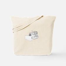 Bulldozer in b&w Tote Bag