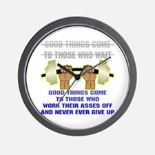 Good Things Come Wall Clock