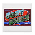 Fort Bliss Texas Tile Coaster