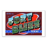 Fort Bliss Texas Rectangle Sticker